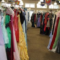 All the dresses were sorted by size